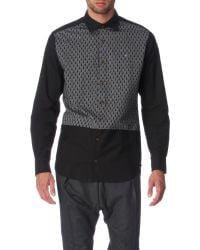 Vivienne Westwood Ermine Regular Fit Single Cuff Shirt gray - Lyst