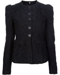 Burberry Puff Sleeve Jacket - Lyst