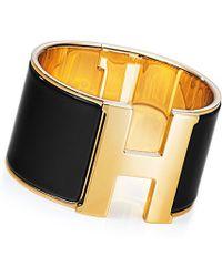 Hermès Clic H Extra Large Bracelet - Lyst