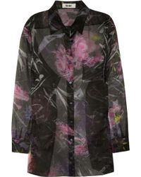 Acne Patsy Bouquet Oversized Silk Organza Shirt - Lyst