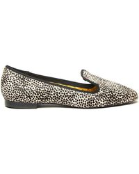 Avec Moderation Leopard Print Smoking Slipper - Lyst