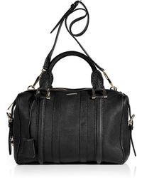 Burberry Black Bowling Grain Leather Medium Nevinson Bag - Lyst