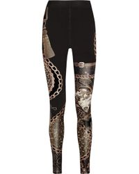 Emma Cook - Printed Stretch Jersey Leggings - Lyst