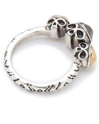 House of Harlow 1960 - Triple Skull Ring - Lyst