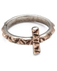 House of Harlow 1960 - Faceted Cross Ring - Lyst