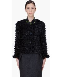 Marc Jacobs Black Jasmine Tinsel Jacket - Lyst