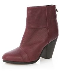 Rag & Bone Classic Newbury Boot in Burgundy - Lyst