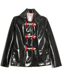 Sonia by Sonia Rykiel Toggle Closure Rain Jacket black - Lyst