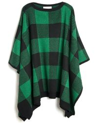 Stella McCartney Checkered Poncho - Lyst