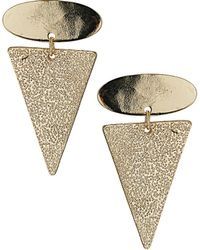 Topshop Oval and Arrow Drop Earrings - Lyst
