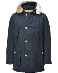 Woolrich Military Navy Artic Parka Df - Lyst