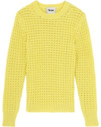 Acne Studios Lina Cable Knit Sweater - Lyst