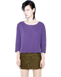 Acne Studios Witkin Cotton Purple - Lyst