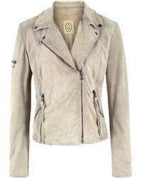 Ash - Margot Clay Suede Jacket - Lyst