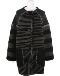 Marc Jacobs Striped Coat in A Blend Of Wool - Lyst