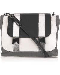 Meredith Wendell - Bucket Leather and Canvas Shoulder Bag - Lyst
