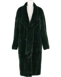Revillon Maxi Coat in Deep Green Dyed Mink Fur - Lyst