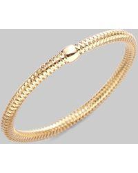 Roberto Coin Primavera Diamond & 18K Yellow Gold Woven Bracelet gold - Lyst
