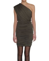 Alice + Olivia One-Shoulder Short Dress In Jersey - Lyst