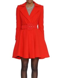 Alice + Olivia Wool Overcoat - Lyst