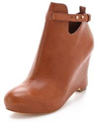 Elizabeth And James Psych Wedge Booties - Lyst