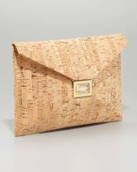 Kara Ross - Prunella Cork Clutch Large - Lyst