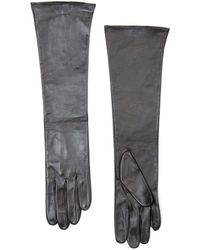 Mango Long Leather Gloves - Lyst