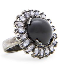 Mango Touch Stone and Crystals Ring - Lyst
