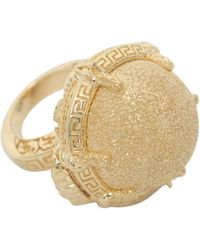 Versace Ring with Oval Stone - Lyst