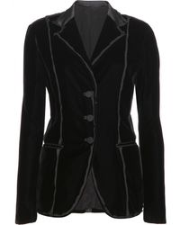 Bottega Veneta Velvet Blazer with Silk Trim - Lyst