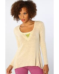 Free People The Aztec Swing Top in Ivory - Lyst
