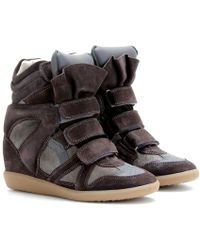 Isabel Marant Beckett Suede Wedge Sneakers - Lyst