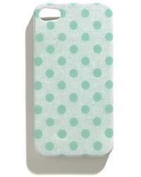 Madewell Polkadot Iphone 4 Case green - Lyst