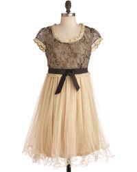 ModCloth Chance For Romance Dress beige - Lyst