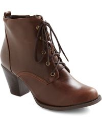 ModCloth Industrious Nature Boot brown - Lyst