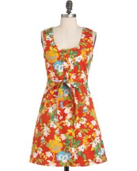 ModCloth Think Outside The Windowbox Dress - Lyst