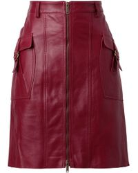 Derek Lam Structured Leather Pencil Skirt - Lyst