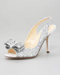 Kate Spade Charm Glitter Slingback Pump - Lyst