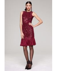 Oscar de la Renta Silk Chiffon Dress - Lyst