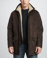 Peter Millar Shearling Jacket - Lyst
