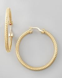 Roberto Coin Primavera Hoop Earrings - Lyst