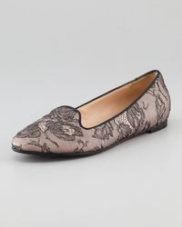 Valentino Caviarcrystal Lace Smoking Slipper - Lyst