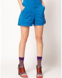 Eley Kishimoto - Short Short Small Check Socks - Lyst
