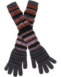 Etro | Striped Cashmere Gloves | Lyst