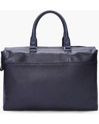 Lanvin - Black 24 Hour Bull Leather Travel Bag - Lyst