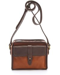 Madewell Heritage Leather Camera Bag brown - Lyst