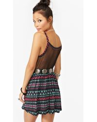 Nasty Gal Tribal Mesh Dress multicolor - Lyst
