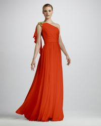 Notte By Marchesa Ropeshoulder Silk Gown - Lyst