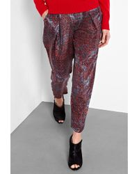 See By Chloé Berlin Print Silk Trousers - Lyst
