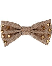 TOPSHOP - Studded Croc Bow - Lyst